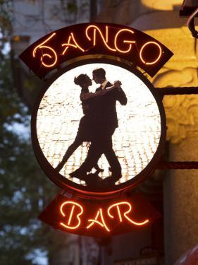 Tango Bar Sign, Buenos Aires, Argentina by Demetrio Carrasco