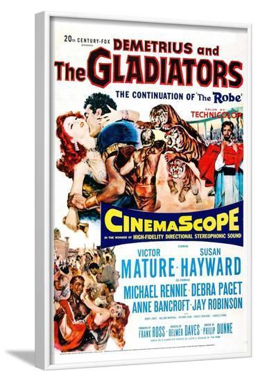 Demetrius and the Gladiators--Framed Art Print