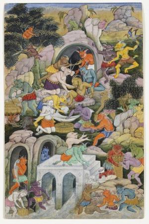Demons in a Wild Landscape, C.1600
