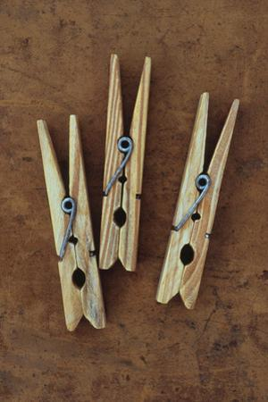 Three Clothes Pegs