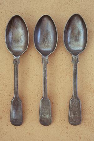 Three Silver Teaspoons by Den Reader