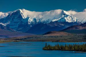 Denali Highway, Route 8, offers views of Mt.Deborah, Mnt. Hess Mountain, & Mt. Hayes Alaska, Alaska