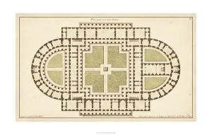Antique Garden Plan I by Deneufforge