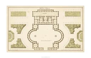Antique Garden Plan II by Deneufforge