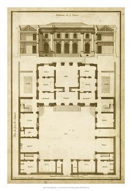 Vintage Building & Plan I by Deneufforge