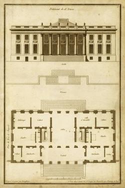 Vintage Building & Plan II by Deneufforge