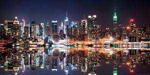 New York City Skyline at Night by Deng Songquan