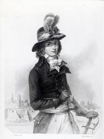 Louis Antoine De Saint-Just, Engraved by Bosselman