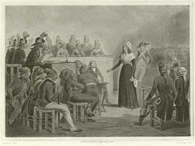 Marie Antoinette at the Revolutionary Tribunal