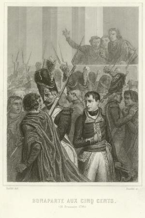 Napoleon Bonaparte Surrounded by Members of the Council of Five Hundred