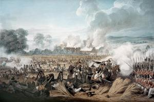 Attack on the British Squares by French Cavalry at the Battle of Waterloo, 1815 by Denis Dighton