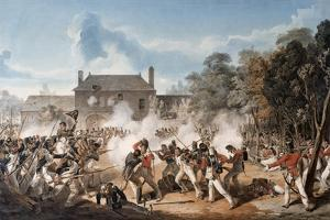 Defence of the Chateau De Hougoumont by the Flank Company, Coldstream Guards 1815, 1815 by Denis Dighton