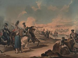 Russian Cavalry Attacking French Infantry at Borodino, 1812 by Denis Dighton