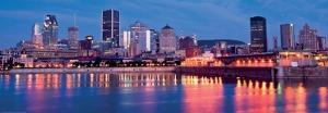 Port of Montreal and Downtown at Dusk by Denis Roger