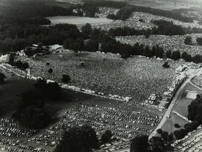 Aerial View of Crowds at the Knebworth Pop Festival, 1986 by Denis Williams