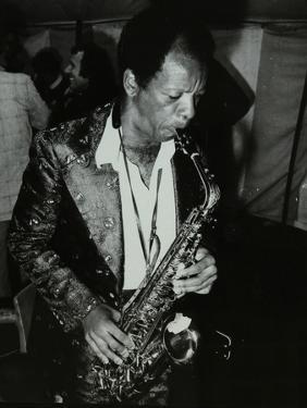 American Saxophonist Ornette Coleman Playing at the Bracknell Jazz Festival, Berkshire, 1978 by Denis Williams