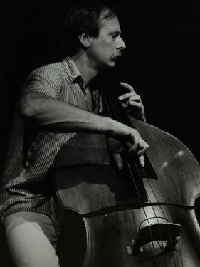 Bassist Paul Bridge Playing at the Stables, Wavendon, Buckinghamshire by Denis Williams
