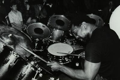 Billy Cobham Conducting a Drum Clinic at the Horseshoe Hotel, London, 1980 by Denis Williams