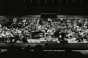 Buddy Rich and the Royal Philharmonic Orchestra in Concert at the Royal Festival Hall, London, 1985 by Denis Williams