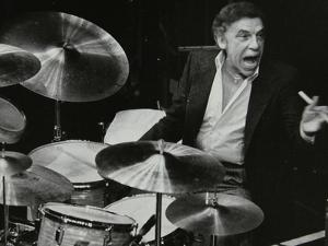 Buddy Rich in Concert at the Forum Theatre, Hatfield, Hertfordshire, March 1980 by Denis Williams