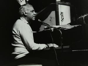 Buddy Rich on Piano on His Last Appearance at the Forum Theatre, Hatfield, Hertfordshire, 1986 by Denis Williams