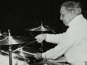 Buddy Rich on the Drums, Royal Festival Hall, London, June 1985 by Denis Williams