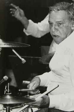 Buddy Rich Playing the Drums at the Royal Festival Hall, London, June 1985 by Denis Williams
