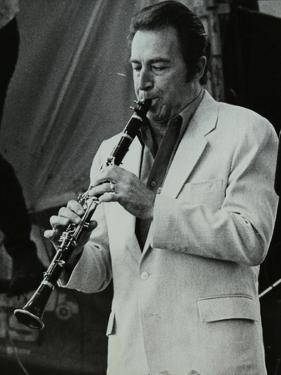 Clarinetist Buddy Defranco at the Capital Radio Jazz Festival, Knebworth, Hertfordshire, 1981 by Denis Williams