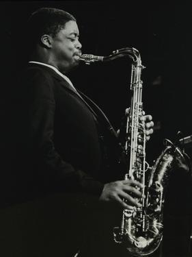 Courtney Pine Playing Tenor Saxophone at the Forum Theatre, Hatfield, Hertfordshire, 8 April 1987 by Denis Williams