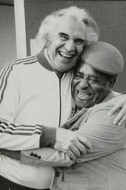 Dave Brubeck and Dizzy Gillespie at the Capital Radio Jazz Festival, Alexandra Palace, London, 1979 by Denis Williams