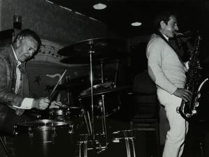 Derek Hogg (Drums) and Bobby Wellins (Saxophone) Playing at the Bell, Codicote, Hertfordshire, 1985 by Denis Williams