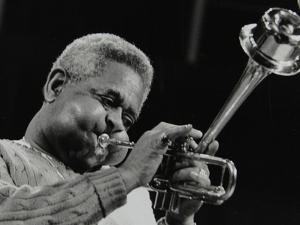 Dizzy Gillespie Performing with the Royal Philharmonic Orchestra, Royal Festival Hall, London, 1985 by Denis Williams