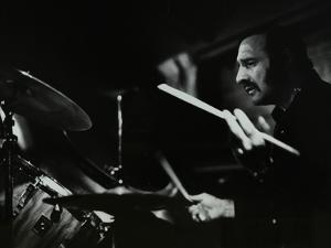 Drummer Alan Jackson Playing at the Stables, Wavendon, Buckinghamshire by Denis Williams