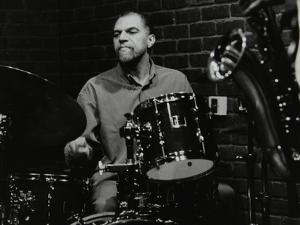 Drummer Derek Gale Playing at the Fairway, Welwyn Garden City, Hertfordshire, 31 October 1999 by Denis Williams