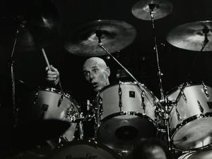 Drummer Eric Delaney Playing at the Forum Theatre, Hatfield, Hertfordshire, 6 May 1983 by Denis Williams