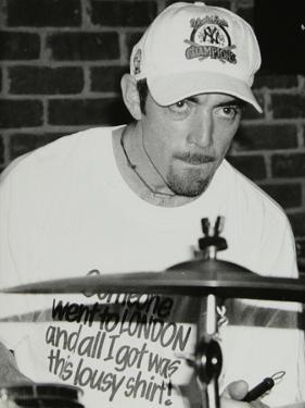 Drummer Gene Calderazzo at the Fairway, Welwyn Garden City, Hertfordshire, 8 December 1996 by Denis Williams