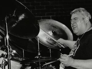 Drummer Martin Drew Playing at the Fairway, Welwyn Garden City, Hertfordshire, 15 February 1998 by Denis Williams