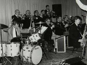 Drummer Ronnie Verrell and the Sound of 17 Big Band at the Fairway, Welwyn Garden City, Herts, 1991 by Denis Williams