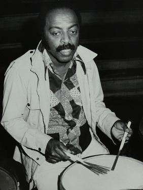 Drummer Roy Haynes at the Capital Radio Jazz Festival, London, 1980 by Denis Williams