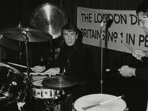 Drummers Kenny Clare Les Demerle, London 1979 by Denis Williams