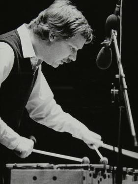 Gary Burton Playing the Vibraphone at the Forum Theatre, Hatfield, Hertfordshire, 25 November 1980 by Denis Williams
