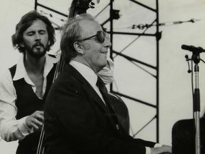 George Shearing and Brian Torff on Stage at the Capital Radio Jazz Festival, Alexandra Palace by Denis Williams