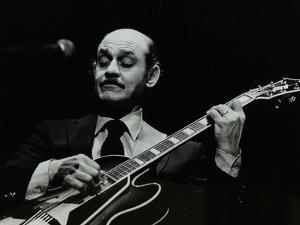 Guitarist Joe Pass on Stage at the Forum Theatre, Hatfield, Hertfordshire, 12 November 1980 by Denis Williams