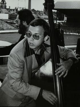 Marc Johnson and Bill Evans at the Newport Jazz Festival, Ayresome Park, Middlesbrough, 1978 by Denis Williams