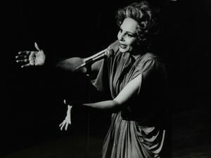 Marion Montgomery Singing at the Forum Theatre, Hatfield, Hertfordshire, 17 March 1979 by Denis Williams