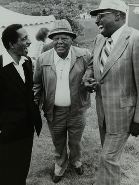 Milt Jackson, Budd Johnson and Major Holley at the Capital Radio Jazz Festival, London, 1979 by Denis Williams