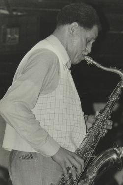 Saxophonist Dexter Gordon Playing at Ronnie Scotts Jazz Club, London, 1980 by Denis Williams