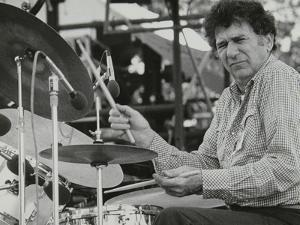 Shelly Manne Playing at the Capital Radio Jazz Festival, London, 1979 by Denis Williams
