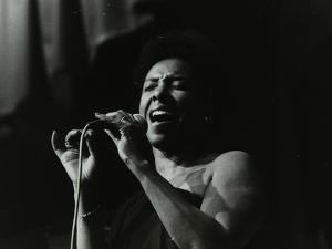 Singer Elaine Delmar Performing at Berkhamsted Civic Centre, Hertfordshire, 1986 by Denis Williams