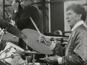 Slam Stewart and Shelly Manne on Stage at the Capital Radio Jazz Festival, London, 1979 by Denis Williams